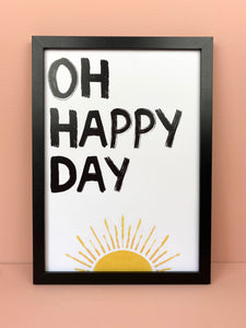 'OH HAPPY DAY' Wall Art - Luna May