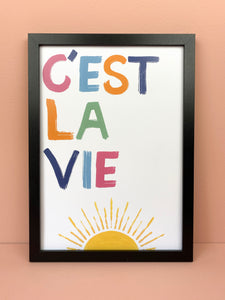 'C'EST LA VIE' Wall Art - Luna May