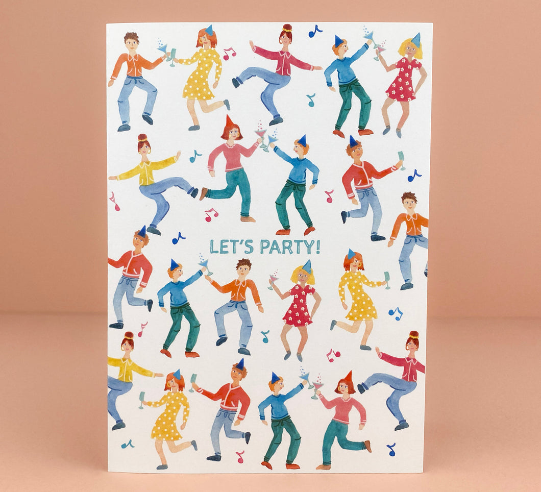 'Party People' Greetings Card - Luna May