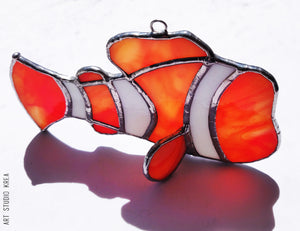 Searching For Nemo Stained Glass Decoration - Made In Folkestone