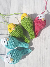 Load image into Gallery viewer, Crocheted Budgerigar - Poppykins - Made In Folkestone