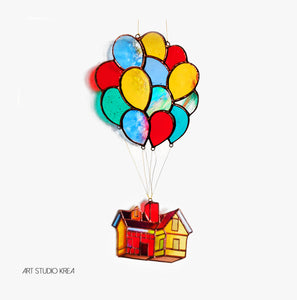 UP in the sky Hanging Decoration - Art Studio Krea