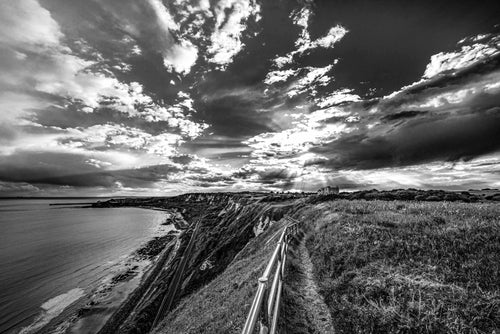 The View from the Cliffs Black and White - Dirk Seyfried - Made In Folkestone