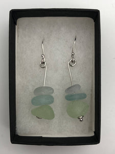 Folkestone sea glass earrings (SGER0029)