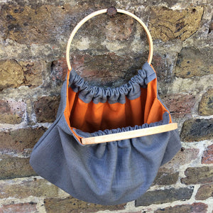 Boho Bag With Wooden Handles - Edy & Fig