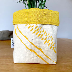 Fabric Square Bottom Planter - Edy & Fig