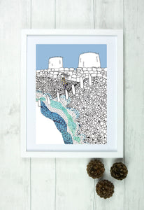 Fine Art Giclee Print - 'Hythe Beach Balancing Act' - Hayley Restall - Made In Folkestone
