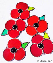 Load image into Gallery viewer, Poppies Hanging Decoration - Art Studio Krea