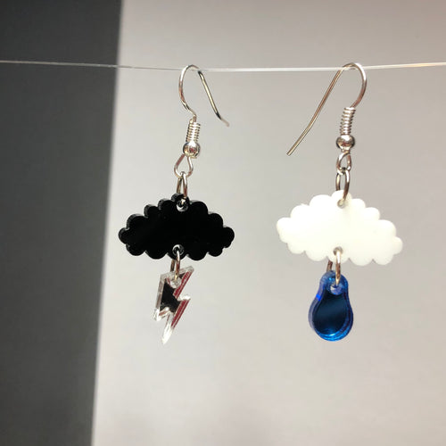 Cloud Earrings - R&R aka 2 Quirky Birds - Made In Folkestone