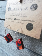 Load image into Gallery viewer, Hand Illustrated Hoop Earrings - S Scott Designs - Made In Folkestone