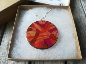Hand Illustrated Wooden Pendant Necklace - S Scott Designs - Made In Folkestone
