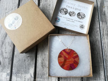 Load image into Gallery viewer, Hand Illustrated Wooden Pendant Necklace - S Scott Designs - Made In Folkestone