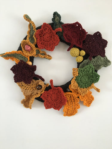 Autumnal Wreath - Curlycrochet