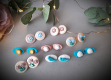 Load image into Gallery viewer, Flower, Bird and Shell Earrings - Simply Pretty Craft