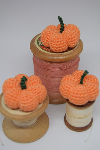 Set of Three Mini Crocheted Pumpkins - Poppykins