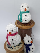 Load image into Gallery viewer, Itty Bitty Crochet Snowman - Poppykins