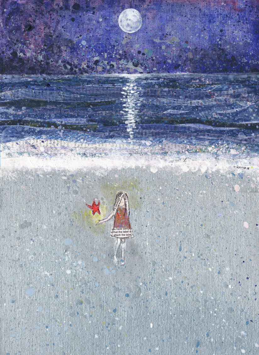 Fine Art Giclee Print - 'Starfish' - Hayley Restall - Made In Folkestone