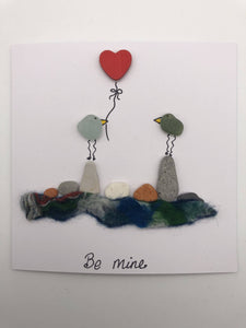 Be Mine large card (0023) - Silver By The Sea