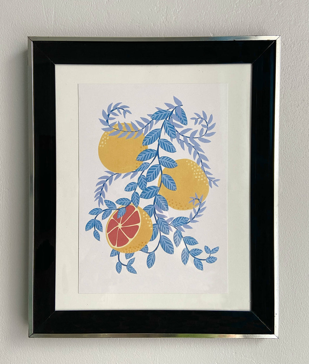 Grapefruit Branch Floral Print - Lucy Hunter Illustration - Made In Folkestone