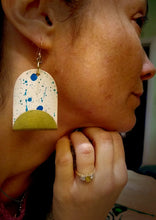 Load image into Gallery viewer, Betty Statement Leather Earrings - Jane De Bono - Made In Folkestone