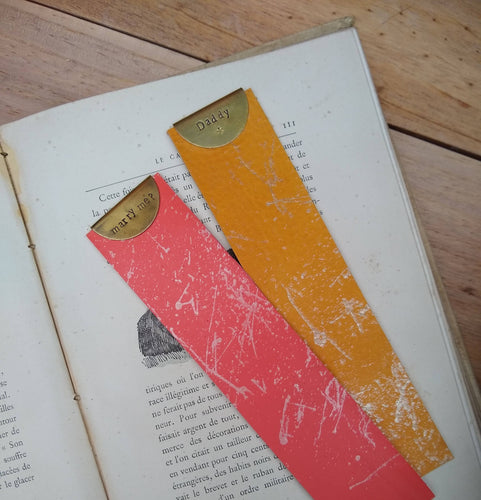 Personalised Veg Tan Bookmark