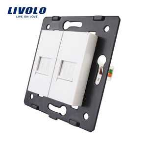 Manufacture Livolo,Wall Socket Accessory, The Base of  Telephone and Computer Socket / Outlet  VL-C7-1TC-11