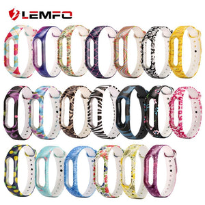 LEMFO Smart Band Sport Fitness Bracelet For Xiaomi Mi Band 2 Watch Strap Color Silicone Replacement Fashion Cute For Women