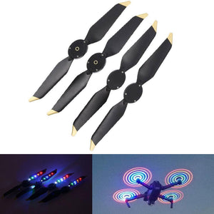 2 Pairs LED Quick Release Drone Propeller for DJI Mavic Pro Platinum FPV Flash Low-Noise  Colorful  CW CCW Props Propellers