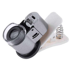 Universal  65X Zoom Clip-on Microscope LED UV Light Clip-On Camera Magnifier Micro Lens for Phone