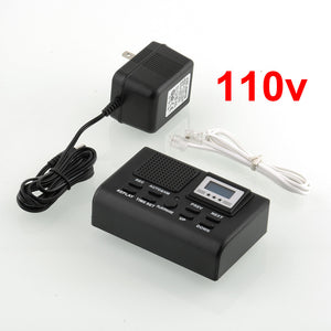 Telephone Recording Registration SD Card Automatic Recorder 110v Black