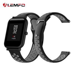 LEMFO Original Smart Watch Band For Xiaomi Amazfit Bip Strap Soft Sport Silicone Replacement Bracelet Huami Mi 20mm Wristband