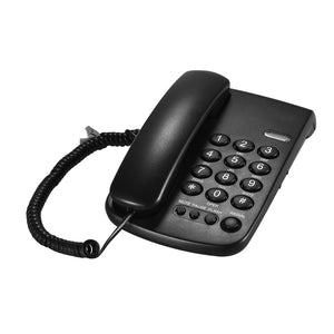 Portable Corded Telephone Phone Pause/ Redial/ Flash/ Mute Mechanical Lock Wall Mountable Base Handset for House Home Call Center Office Company Hotel