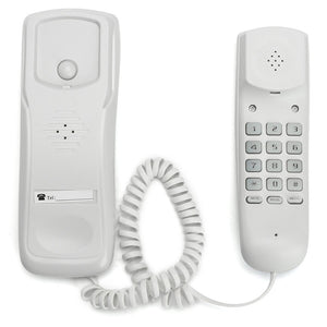 Mini Wall Telephone Home Hotel Office Wired Desktop Wall Phone Incoming Caller Landline Telephone Caller ID White Landline Phone