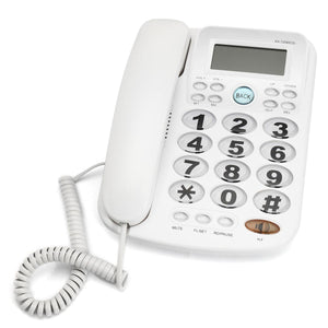 White Corded Phone With Caller ID Display Big Button Landline Desktop Office Home Telephone Hotel Bar Corded Phone Telephone New