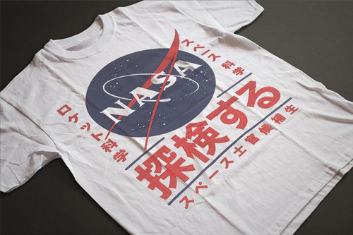 NASA Japanese Logo T-Shirt (White) - Intergalactic Records