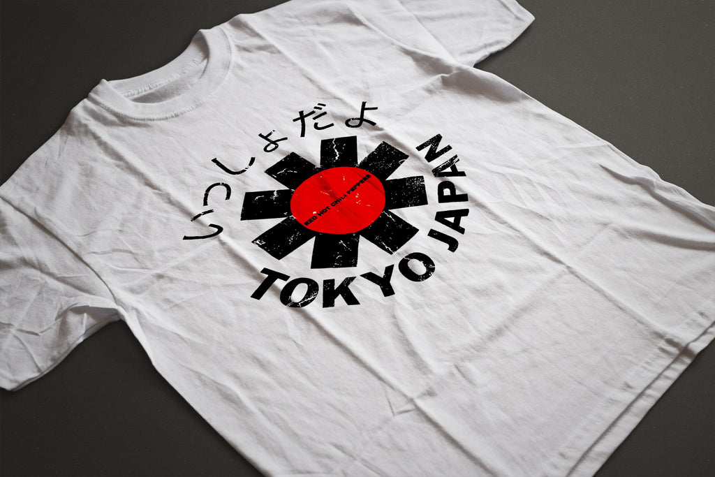 Red Hot Chili Peppers Tokyo Japan T-Shirt (White) - Intergalactic Records