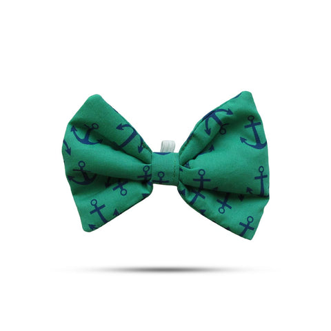 Printed Green Bow