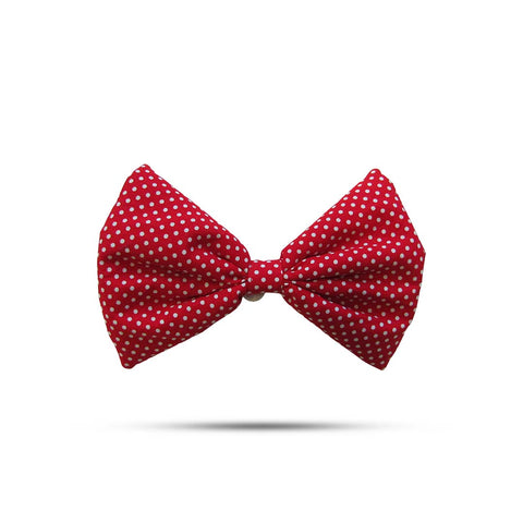 Red & White Polka Dot Bow