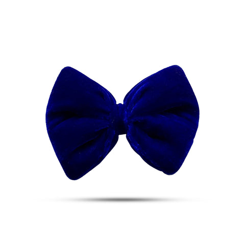 Velvet Royal Blue Bow