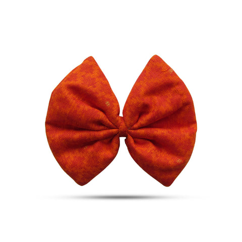 Blended Cotton Orange Bow