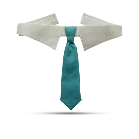 Turquoise Tie With Collar