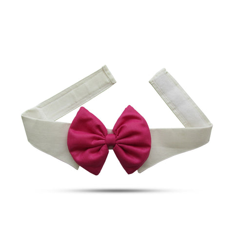 Pink Bow With Collar