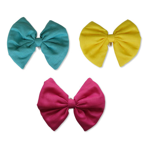 Turquoise, Yellow and Pink Bows