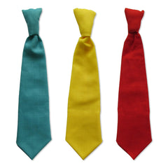 Turquoise, Yellow and Red Ties