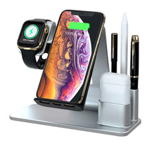 Load image into Gallery viewer, 4 in 1 Qi Fast Wireless  Charger Dock Stand - Linden & Burk