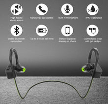 Load image into Gallery viewer, Wireless Sport Earphones, HiFi Bass Stereo Sweatproof Earbuds w/Mic, for Workout, Running, Gym, 8 Hours Play Time - Linden & Burk