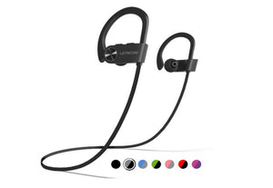 Wireless Sport Earphones, HiFi Bass Stereo Sweatproof Earbuds w/Mic, for Workout, Running, Gym, 8 Hours Play Time - Linden & Burk