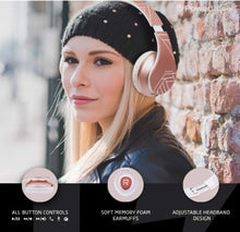 Load image into Gallery viewer, Wireless Stereo Foldable Headphones Wireless and Wired Headsets with Built-in Mic, Micro SD/TF, FM for iPhone/Samsung/iPad/PC - Linden & Burk