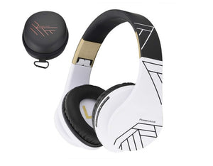 Wireless Stereo Foldable Headphones Wireless and Wired Headsets with Built-in Mic, Micro SD/TF, FM for iPhone/Samsung/iPad/PC - Linden & Burk