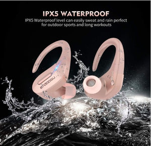 Bluetooth 5.0 Wireless Earbuds, Truly Wireless Sport Headphones IPX5 Waterproof Wireless Earphones 50H Cycle Play Time,with Charging Case 1000mAh Built-in Microphone-Rose Gold - Linden & Burk